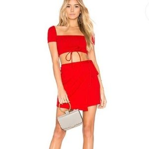 NWT Privacy Please Red Miller Skirt Size S